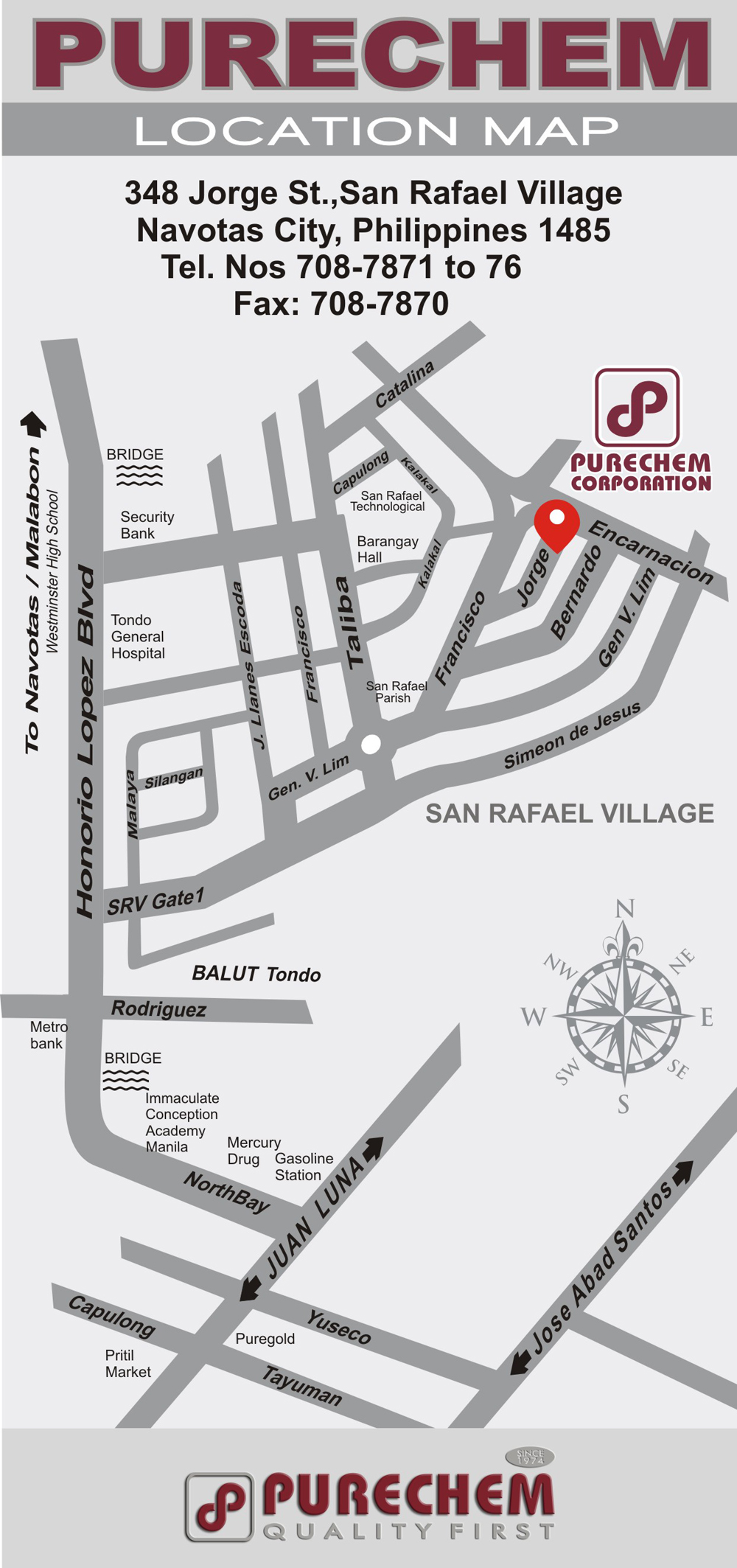 Purechem location map